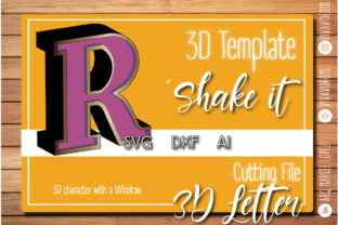 Print on Demand: 3D Letter with Window: R Graphic 3D SVG By Marcel de Cisneros