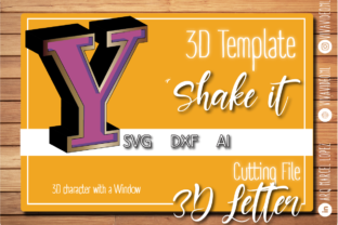 Print on Demand: 3D Letter with Window: Y Graphic 3D SVG By Marcel de Cisneros