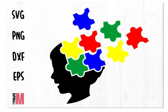 Print on Demand: Autism Head Awareness Puzzle SVG Graphic Crafts By Typography Morozyuk