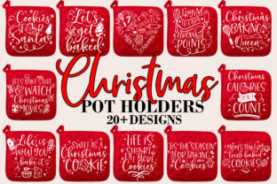 Print on Demand: Christmas Baking Pot Holder Bundle SVG Graphic Crafts By freelingdesignhouse