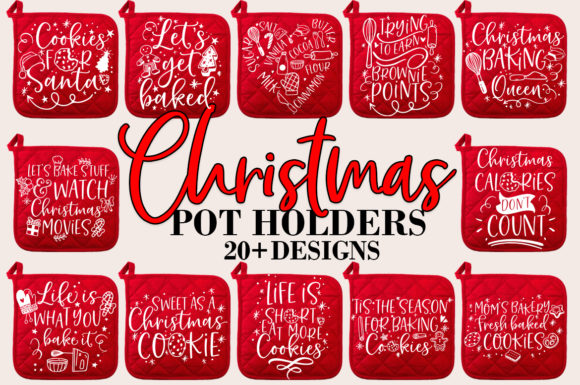 Print on Demand: Christmas Baking Pot Holder Bundle SVG Grafik Crafts von freelingdesignhouse