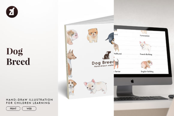 Dog Breed Set1 Graphic Illustrations By Chanut is watercolor