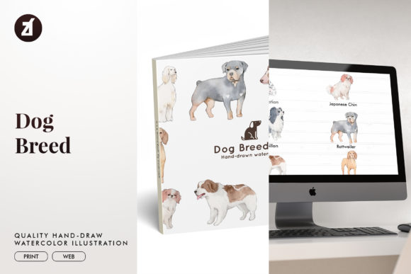 Dog Breed Set5 Graphic Illustrations By Chanut is watercolor
