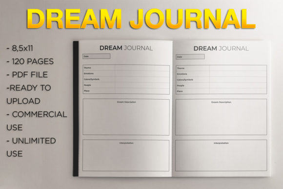 Dream Journal | KDP Template Graphic