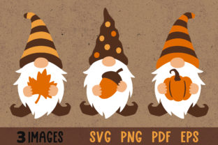 Fall Gnomes Clipart Graphic Crafts By GreenWolf Art