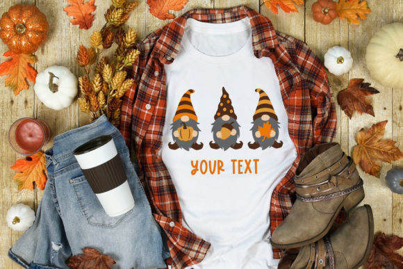 Fall Gnomes Clipart Graphic Image
