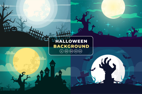 Halloween Background Bundle Graphic Backgrounds By OKEVECTOR