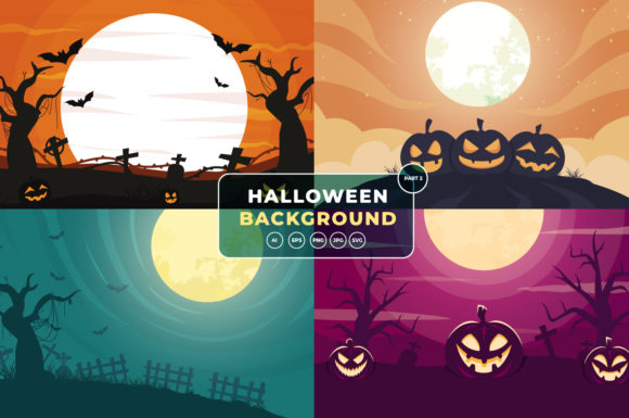 Halloween Background Bundle Part 2 Graphic Backgrounds By OKEVECTOR