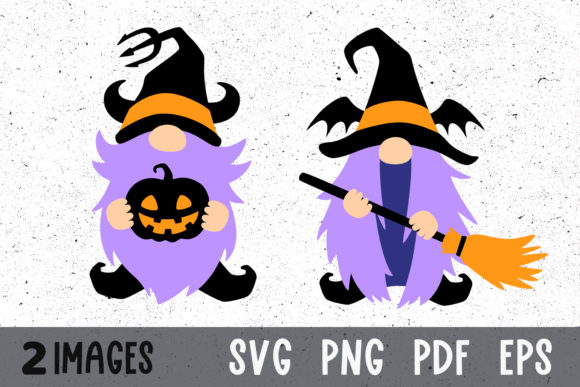 Halloween Gnomes Svg Files for Cricut Graphic Crafts By GreenWolf Art