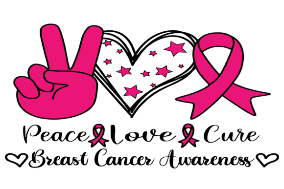 Peace Love Cure,Trending Svg,breast Canc Graphic Graphic Templates By zaneavi.moor1