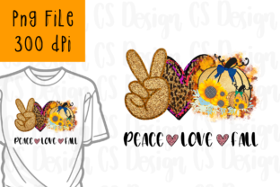 Print on Demand: Peace Love Fall Sublimation Png Digital Graphic Crafts By CSDesign