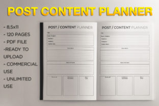 Print on Demand: Post Content Planer | KDP Template Graphic KDP Interiors By KDP Product