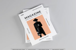 Print on Demand: Realistic Magazine Paper Mockup Template Graphic Product Mockups By dendysign