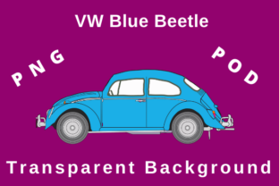 Print on Demand: VW Blue Beetle Graphic Illustrations By TuxCat Design