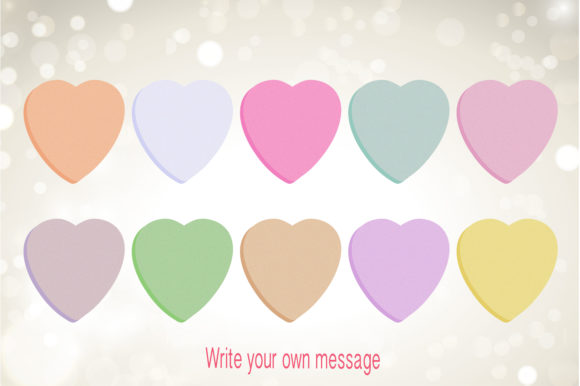 Valentine Clipart - Candy Hearts Graphic Item