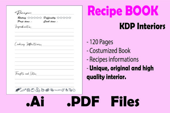 Print on Demand: 120p. Recipe Book Organizer Kdp Interior Graphic KDP Interiors By KDP_Interior_101