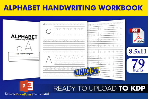 Print on Demand: Alphabet Handwriting Workbook KDP Graphic KDP Interiors By Beast Designer
