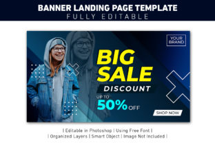 BANNER LANDING PAGE BIG SALE FASHION Graphic Web Templates By ant project template