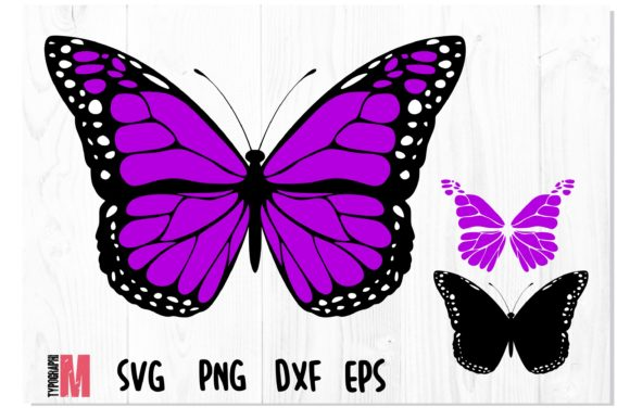 Print on Demand: Butterfly Violet Layered SVG Graphic Crafts By Typography Morozyuk
