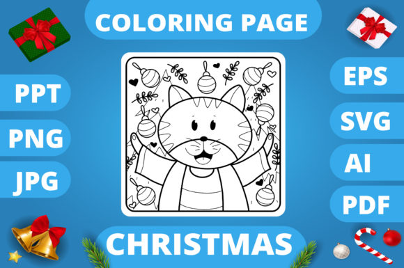 Print on Demand: Christmas Coloring Page for Kids #15 V3 Graphic Coloring Pages & Books Kids By MikeToon Studio