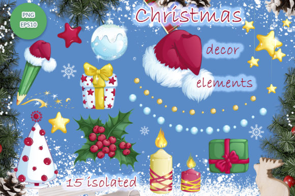 Christmas Gnomes and Decorative Elements Graphic Item