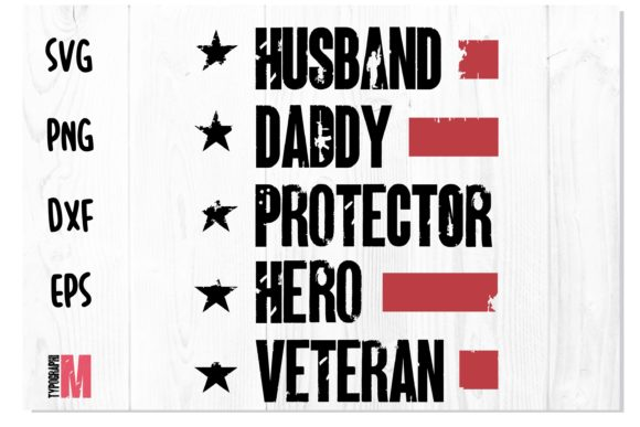 Print on Demand: Daddy Protector | Army T Shirt Design Graphic Crafts By Typography Morozyuk