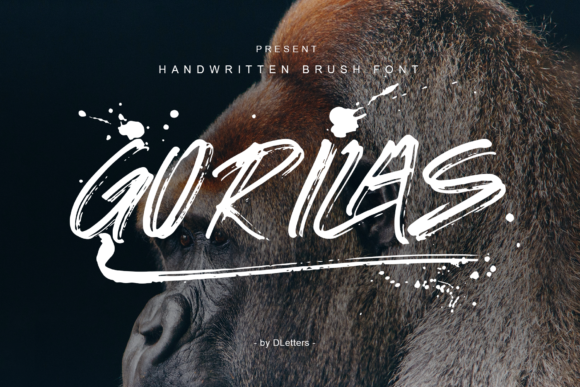 Print on Demand: Gorilas Display Font By DLetters.std