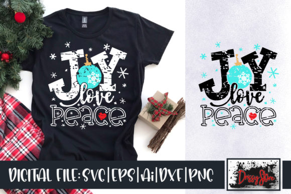 Joy Love Peace Grunge Graphic Crafts By DrissyStore