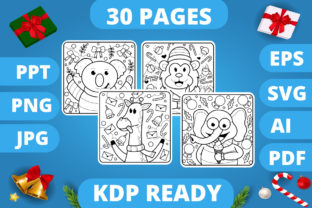 Print on Demand: KDP   Christmas Coloring Book for Kids 3 Graphic Coloring Pages & Books Kids By MikeToon Studio 1