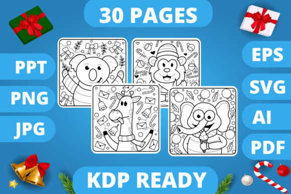 Print on Demand: KDP | Christmas Coloring Book for Kids 3 Graphic Coloring Pages & Books Kids By MikeToon Studio