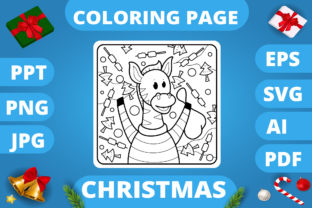 Print on Demand: KDP   Christmas Coloring Book for Kids 3 Graphic Coloring Pages & Books Kids By MikeToon Studio 10