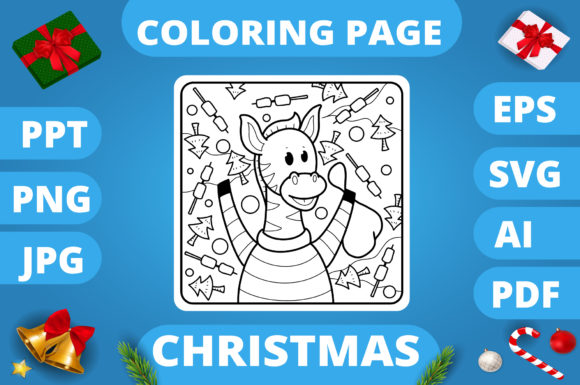 KDP | Christmas Coloring Book for Kids 3 Graphic Graphic