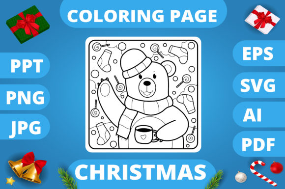 KDP | Christmas Coloring Book for Kids 3 Graphic Item