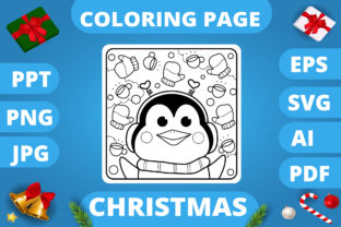 Print on Demand: KDP   Christmas Coloring Book for Kids 3 Graphic Coloring Pages & Books Kids By MikeToon Studio 4
