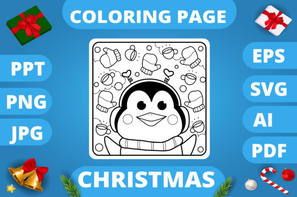 KDP | Christmas Coloring Book for Kids 3 Graphic Design