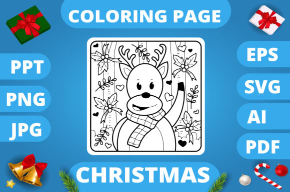 KDP | Christmas Coloring Book for Kids 3 Graphic Image