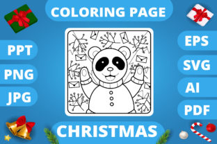 Print on Demand: KDP   Christmas Coloring Book for Kids 3 Graphic Coloring Pages & Books Kids By MikeToon Studio 7