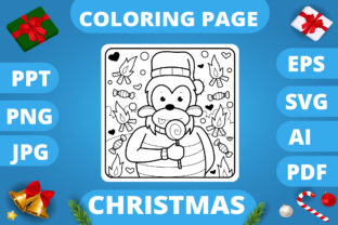 Print on Demand: KDP   Christmas Coloring Book for Kids 3 Graphic Coloring Pages & Books Kids By MikeToon Studio 8