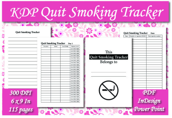 Print on Demand: KDP Quit Smoking Tracker Interior Graphic KDP Interiors By Ivana Prue
