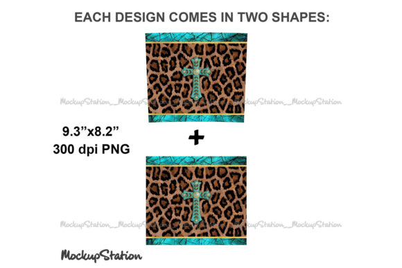 Leopard 20oz Skinny Tumbler Design PNG Graphic Item