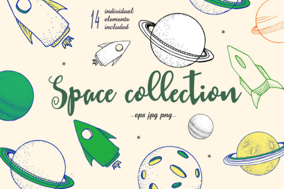 Little Space for Creative Universe Graphic Illustrations By AnnArtHouze