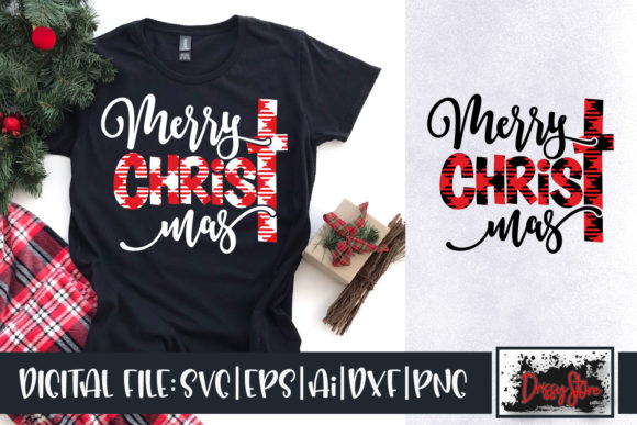 Merry Christmas Plaid Graphic Crafts By DrissyStore