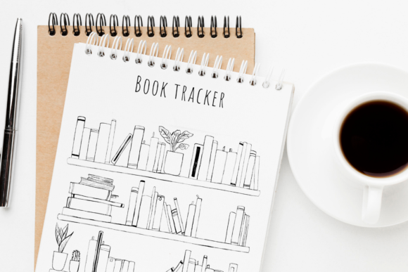Reading Journal, Reading Tracker Graphic Objects By Aneta Design