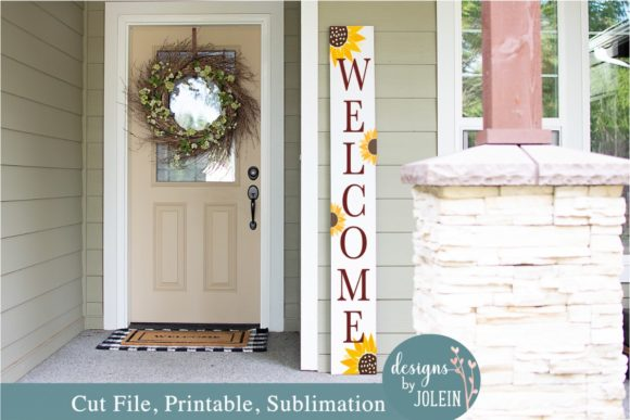 Print on Demand: Sunflower Welcome Porch Sign Graphic Crafts By Designs by Jolein