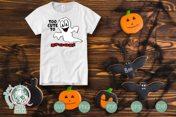 Too Cute To Spook Svg Graphic By Queenbrat Digital Designs Creative Fabrica
