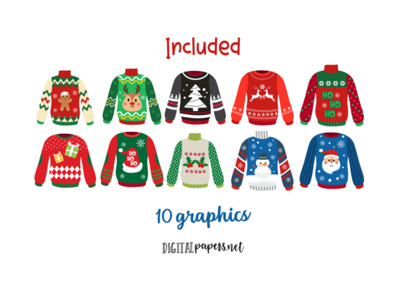 Ugly Sweaters Graphic Download