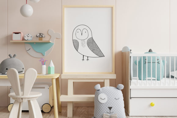 Print on Demand: Wall Art,Cute Bird Animal Clip Art Graphic Illustrations By Saydung89