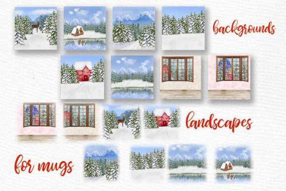 Winter Background Holiday Scenes Png Graphic Download