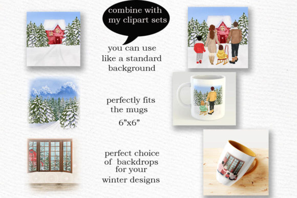 Winter Background Holiday Scenes Png Graphic Item