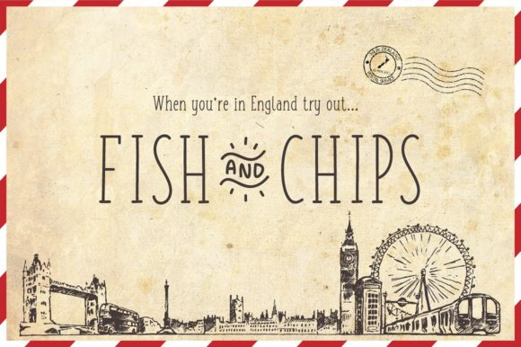 Print on Demand: Fish and Chips Serif Font By Shaped Fonts